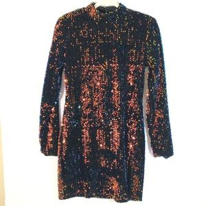 NWT Red Dress Boutique Sequined Backless Dress